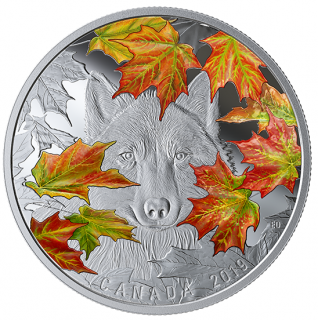 2019 - $30 - 2 oz. Pure Silver Coin - Wily Wolf