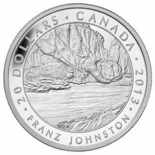 2013 - $20 - 1 oz Fine Silver Coin - Franz Johnston, The Guardian of the Gorge