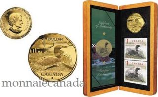 2004 -  $1 The Elusive Loon Stamp and Coin Set Limited-Edition
