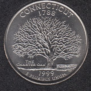 1999 D - Connecticut - 25 Cents