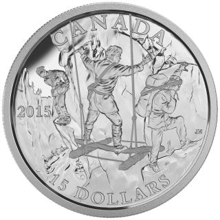 2015 - $15 - Fine Silver Coin - Exploring Canada - The Wild Rivers Exploration