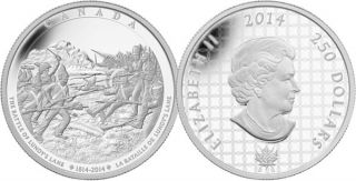 2014 - $250 - Fine Silver One Kilogram Coin - The Battle of Lundy's Lane