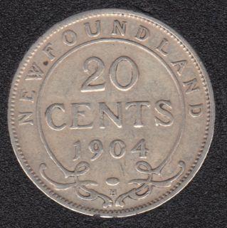Terre Neuve - 1904 H - Fine - 20 Cents