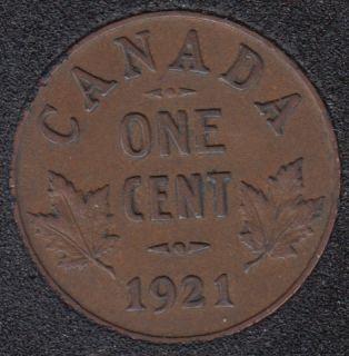 1921 - VF - Canada Cent