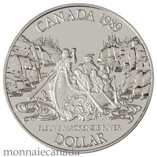 1989 Silver Dollar Proof - Mackenzie River Bicentennial