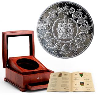 2019 - $500 - Five Kilogram Pure Silver Coin - Brilliant Mastery in Canada