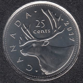 2017 - B.Unc - Caribou - Canada 25 Cents