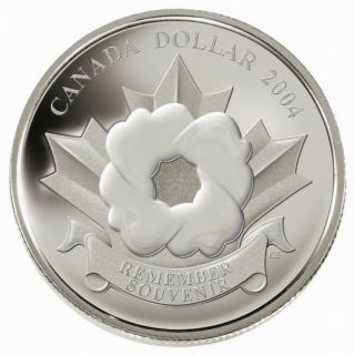 2004 Poppy Proof Silver $ .9999 Fine