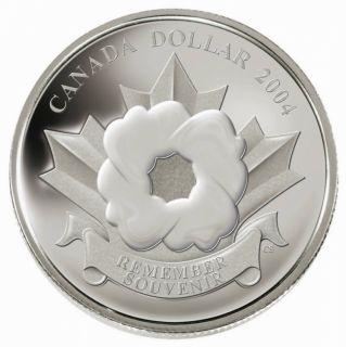 2004 Dollar épreuve numismatique Le Coquelicot en argent pur .9999