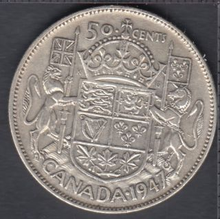 1947 - Straight '7' - Canada 50 Cents