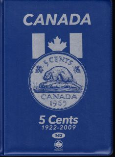 5¢ Album Canada Uni-Safe (Cinq Cents) 1922 a 2009