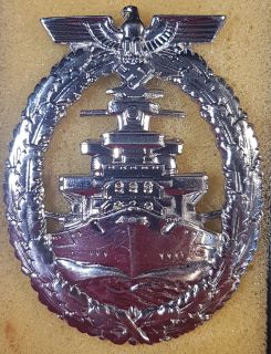 #1-270 Kriegsmarine High Seas Fleet Badge by Schwerin, Berlin