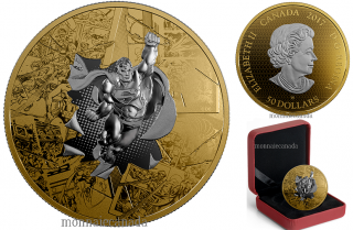 2017 - $50 - 3 oz. Reverse Gold-Plated Pure Silver - DC Comics Originals: Superman The Brave and The Bold