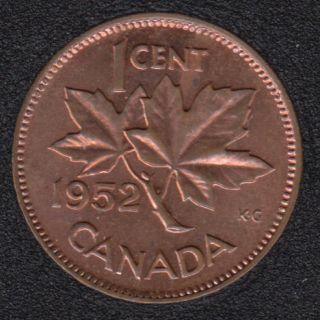 1952 - Rec & Brown Unc - Canada Cent