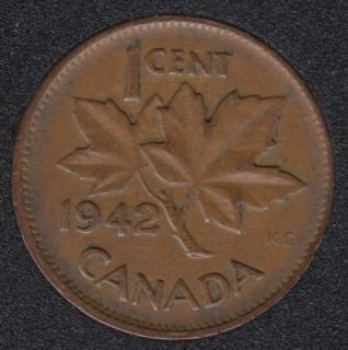 1942 - Break Bust to M to Rim - Canada Cent