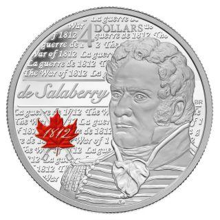 2013 - $4 - De Salaberry - Fine Silver Coin