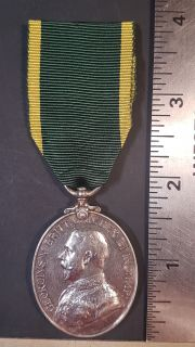 #1-242 Territorial Force Effiency Medal 1908-1902 GEORGE V