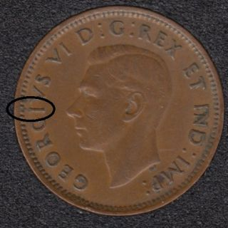 1946 - Break I to Rim - Canada Cent