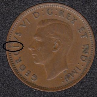 1946 - Break I to Rim - Canada Cent