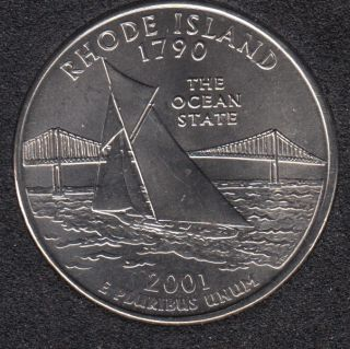 2001 P - Rhode Island - 25 Cents