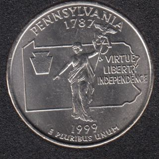 1999 P - Pennsylvania - 25 Cents