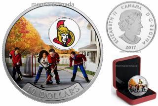 2017 - $10 - 1/2 oz. Pure Silver Coloured Coin – Passion to Play: Ottawa Senators®