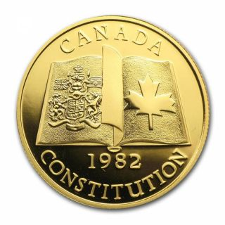 1982 - $100 - en Or 22 K  - Patriation of Canadian Constitution