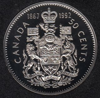 1992 - 1867 - Proof - Canada 50 Cents