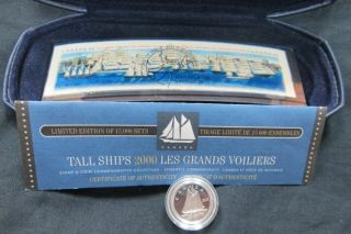 2000 - 10 Cents - Proof - Canada Talls Ships + Stamp