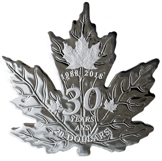 2018 - $20 - 1 oz. Pure Silver Coin - 30th Anniversary of the Silver Maple Leaf