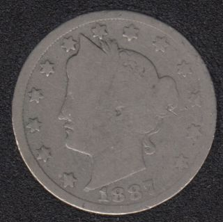 1887 - Liberty Head - 5 Cents