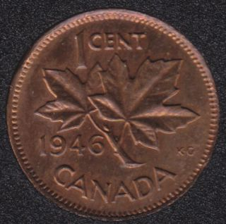 1946 - Lustrous Brown - Canada Cent