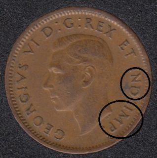 1945 - Double IND IMP - Canada Cent