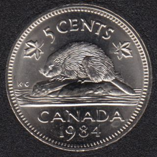 1984 - B.Unc - Canada 5 Cents