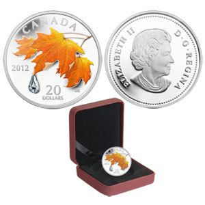 2012 - $20 -  Fine Silver Coin - Sugar Maple Crystal Raindrop