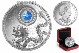 2016 - $5 - Fine Silver Coin made with Swarovski® crystal – Birthstones: March