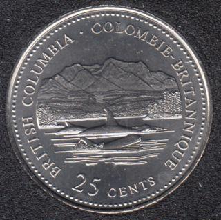 1992 - #912 B.Unc - Colombie Btritannique - Canada 25 Cents