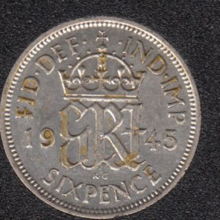 1945 - 6 Pence - Great Britain
