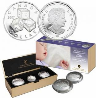2007 BABY Keepsake Tins & Sterling silver Dollar Set *LOW MINTAGE*