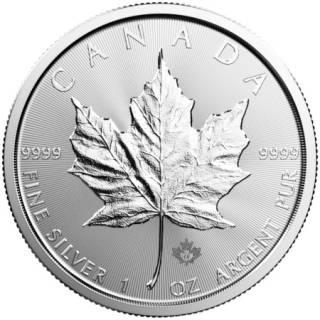 2018 - Canada $5 - 1oz Fine Silver 9999 - Silver Maple Leaf