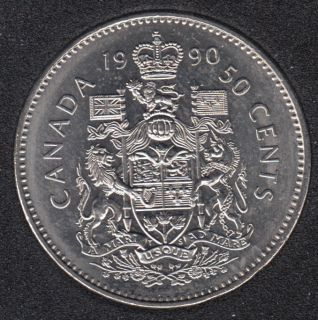 1990 - B.Unc - Canada 50 Cents