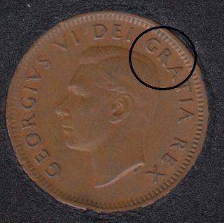 1952 - Double GRA - Canada Cent