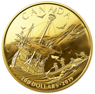 2019 - $200 - Pure Gold Coin - Early Canadian History: Arrival of the Europeans