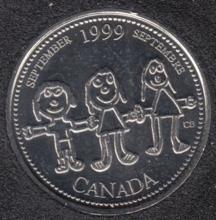 1999 - #9 B.Unc - September - Canada 25 Cents