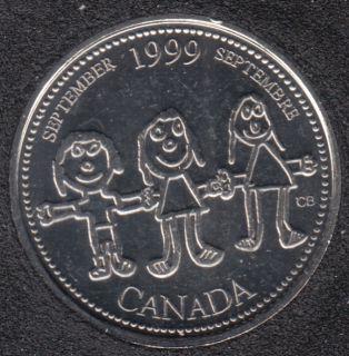 1999 - #9 B.Unc - Septembre - Canada 25 Cents
