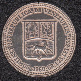 1960 - 25 Centimos - Polie - Venezuela