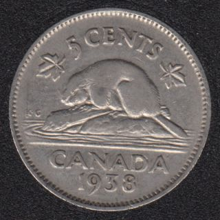 1938 - Canada 5 Cents