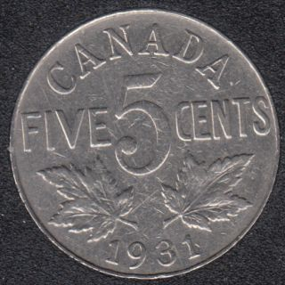 1931 - VF - Canada 5 Cents
