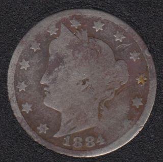 1884 - Liberty Head - 5 Cents