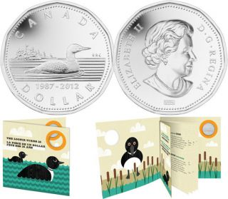 2012 Silver-Plated 25th Anniversary of the Loonie Coin (1987-2012)